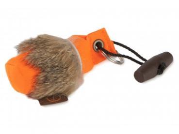 Firedog Schlüsselanhänger Minidummy mit Kaninchenfell